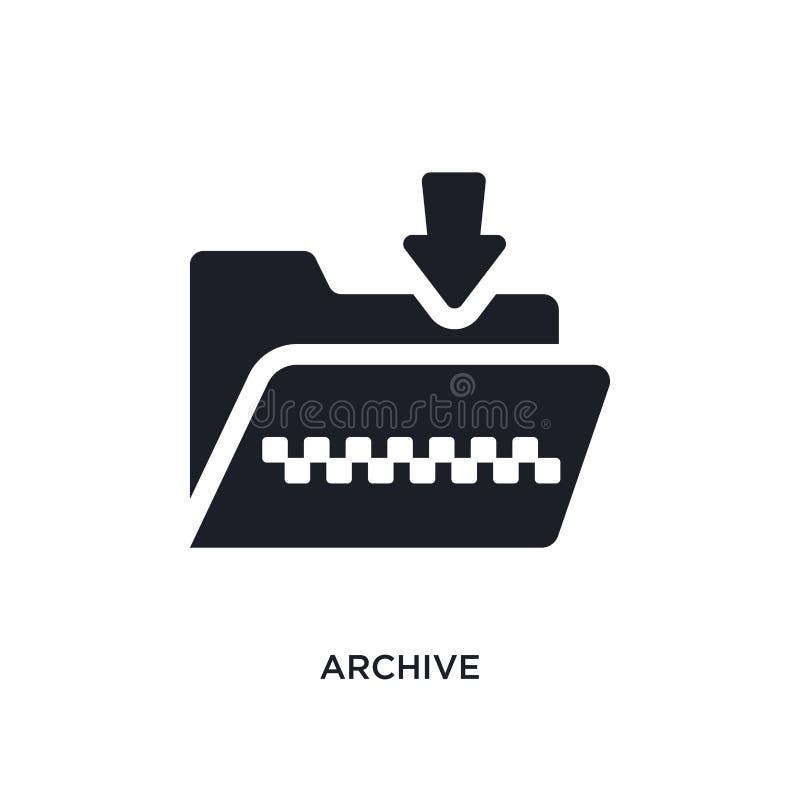 archiwum odosobniona ikona prosta element ilustracja od programowania pojęcia ikon archiwum logo znaka symbolu editable projekt d ilustracji