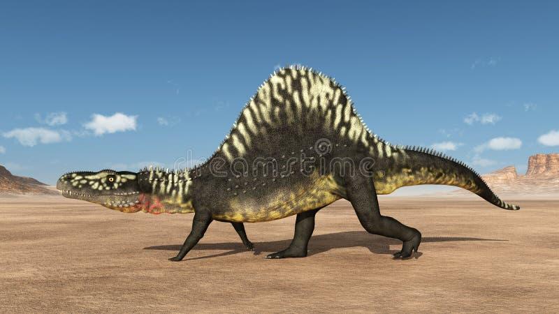 Archosaur Arizonasaurus illustration de vecteur