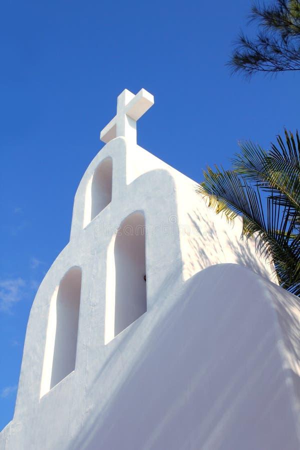 archs钟楼运货马车的车夫教会del墨西哥playaį 免版税库存图片