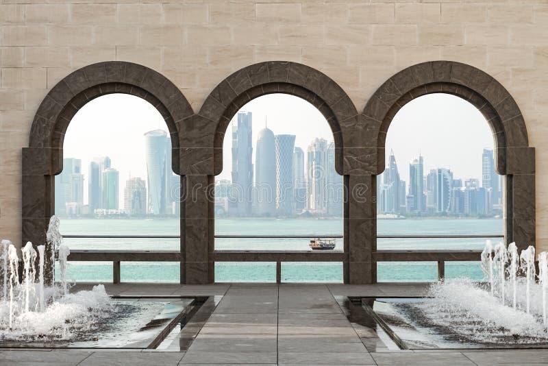 Archs för golf- och stadssiktstrhu av Mia royaltyfri bild
