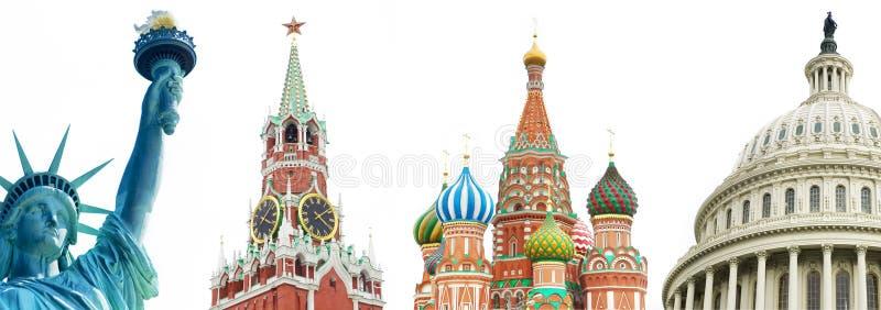 archtectural俄国符号美国 免版税图库摄影
