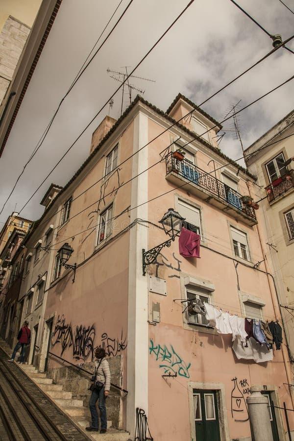 Archtecture/улицы, Лиссабон, Португалия стоковое изображение rf