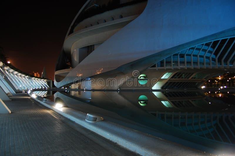 Archtecture moderno, paesaggio di notte fotografia stock