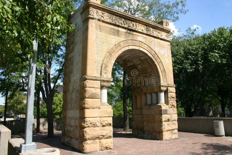 Archway. An Archway in Downtown Omaha stock photo