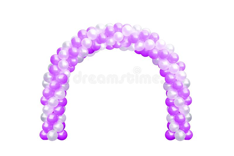 Balloon Archway door Purple Pink and white, Arches wedding, Balloon Festival design decoration elements with arch floral design is stock photos