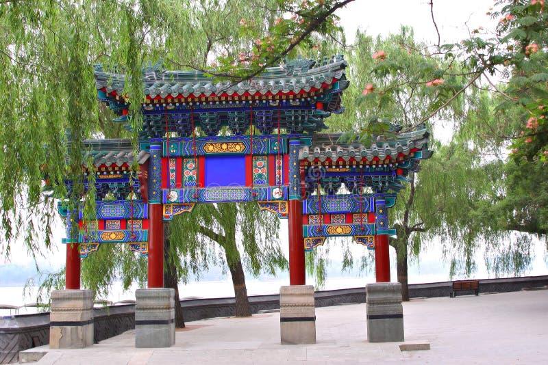 Archway chinês bonito fotos de stock