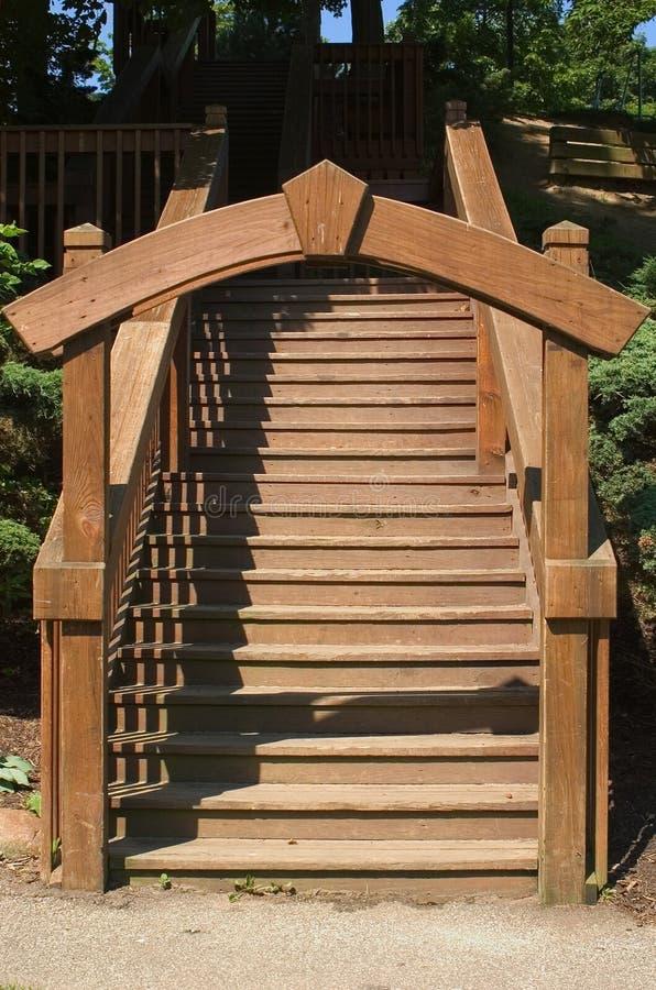 Archway de madeira fotografia de stock
