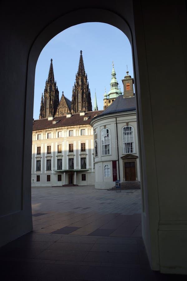 Archway del castello di Praga immagine stock libera da diritti