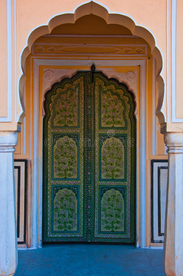 Archway in Hawa Mahal stock photography