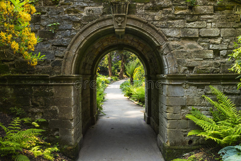 Archway in Hever Gardens. Hever Castle & Gardens, Hever, Edenbridge, Kent, England, United Kingdom royalty free stock photography