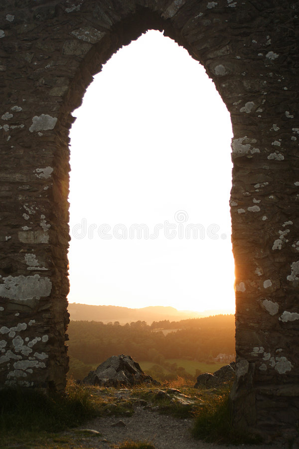 Archway on a hill stock photos