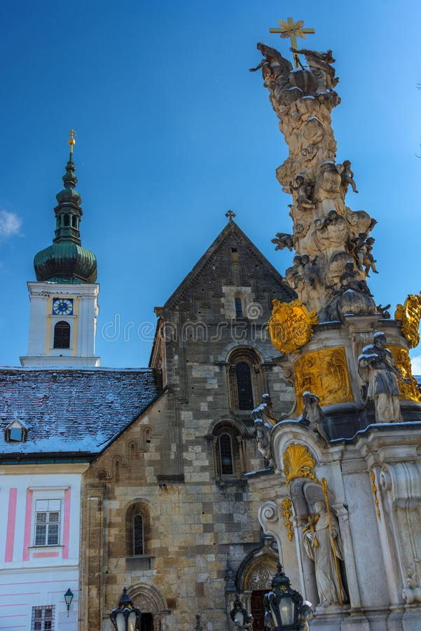 Archway and Inner Yard of the monastery of Heiligenkreuz stock photography