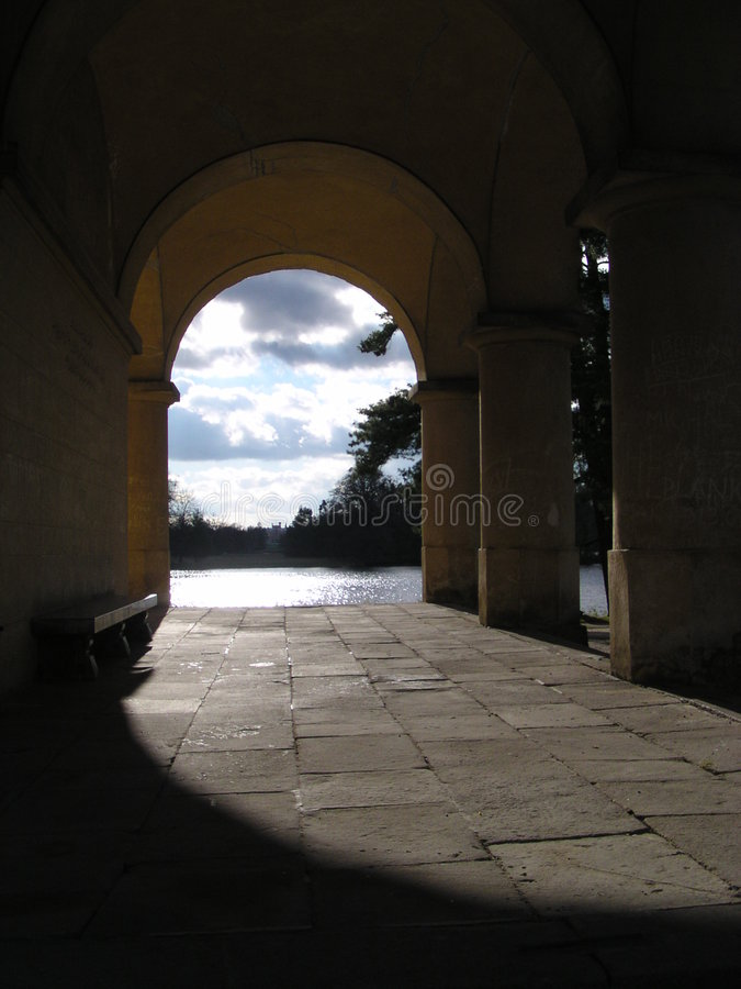 Archway in Lednice stock photos