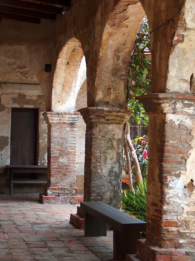 Archway Of Mission San Juan Capistrano Stock Photo