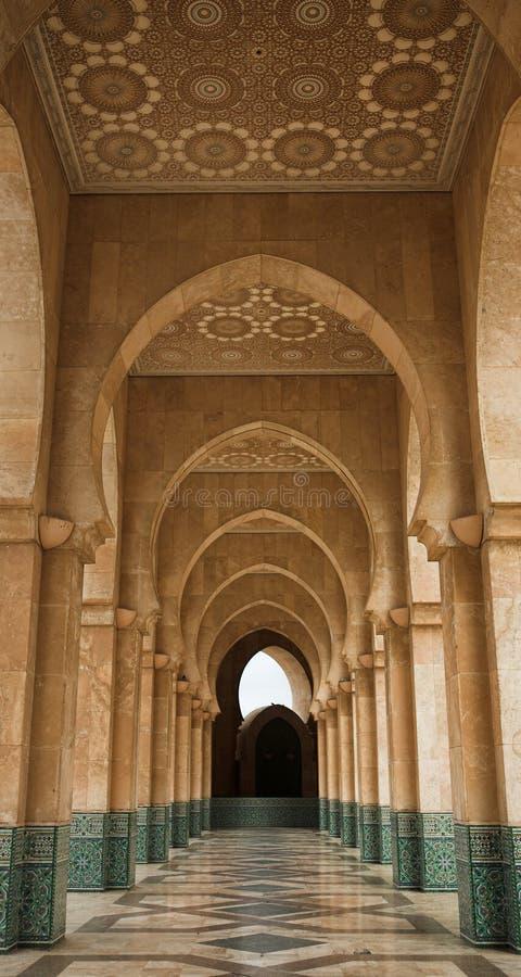 Archway na mesquita de Hassan II fotos de stock