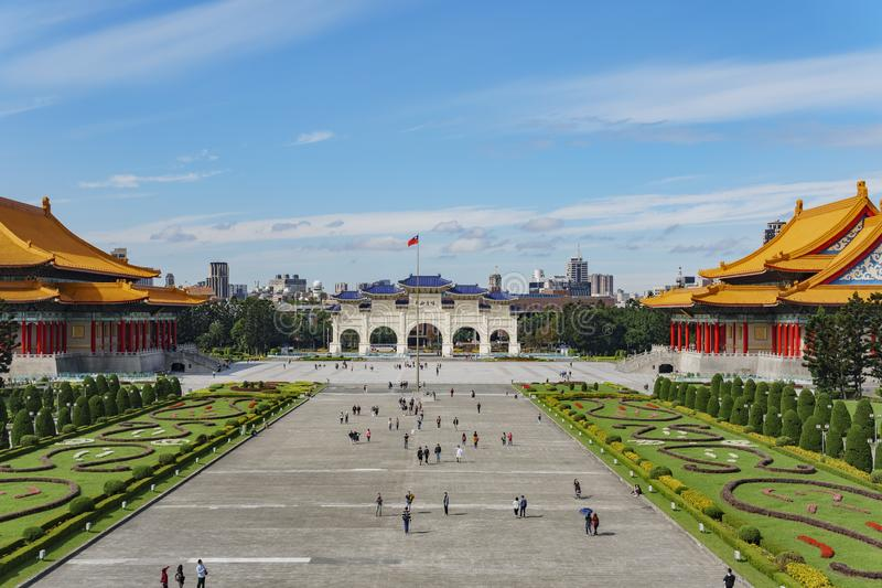 Archway, National Concert Hall of the Chiang Kai-shek Memorial Hall stock photo
