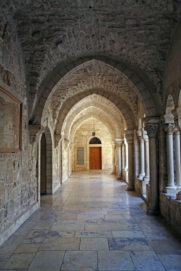 Archway Nativity church, Bethlehem stock photo