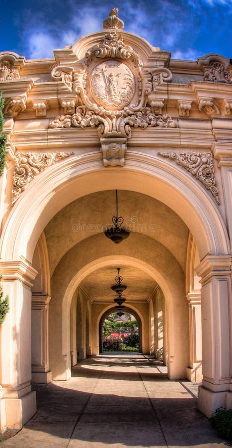 Archway nella sosta della balboa fotografia stock