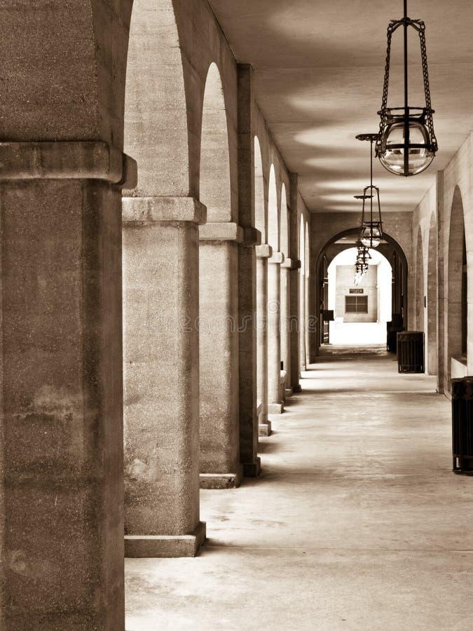 Archway no sepia. foto de stock royalty free