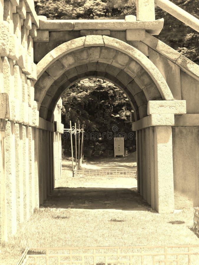 Archway przy świątynią obraz royalty free