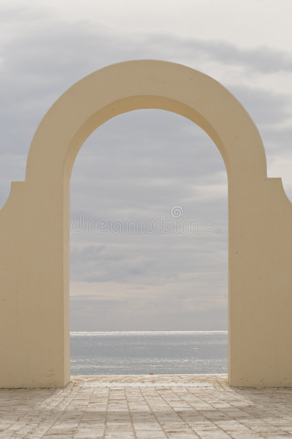Archway to the ocean royalty free stock photography