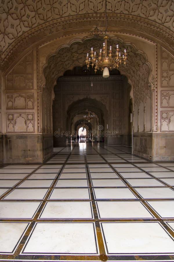 Archway w Badshahi meczecie, Lahore, Pakistan zdjęcie stock
