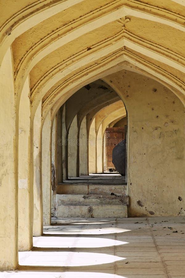 Archways at Qutb Shahi Tombs royalty free stock image