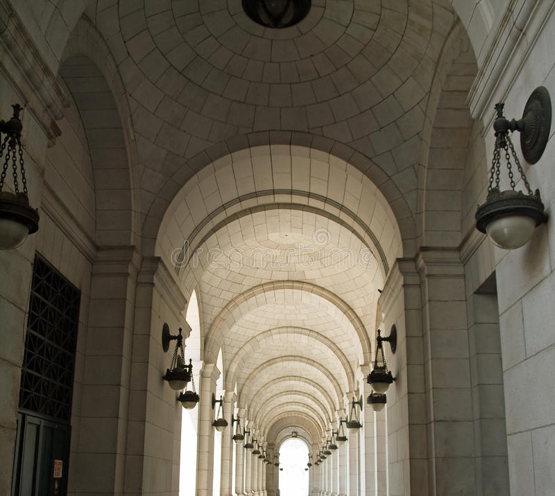 Archways at Union Station royalty free stock photography