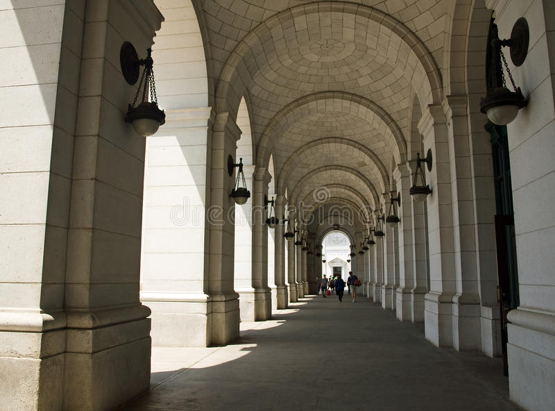 Download Archways at Union Station stock photo. Image of hallway - 25659594