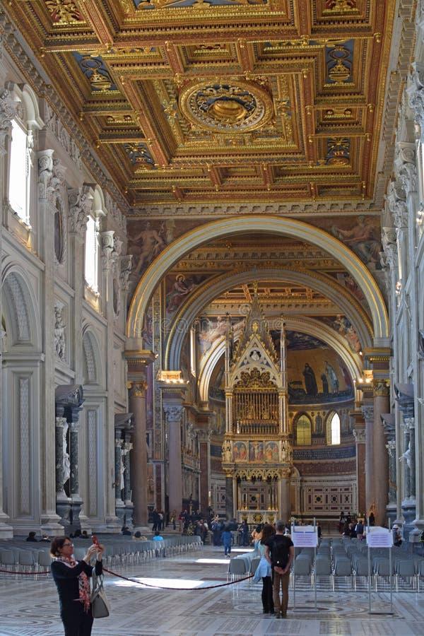 Arcibasilica二圣乔瓦尼在Laterano 库存照片