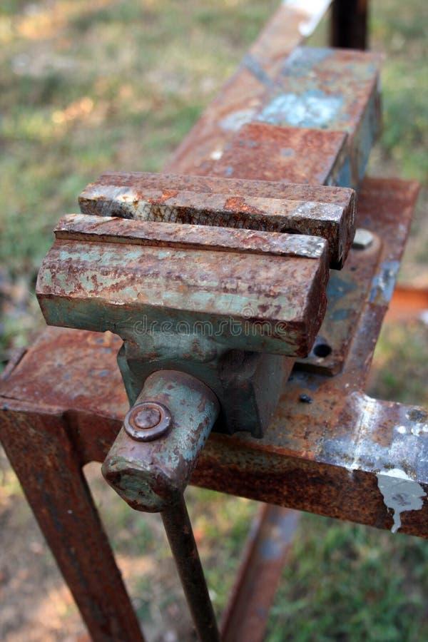 Arcilla de acero oxidada foto de archivo libre de regalías