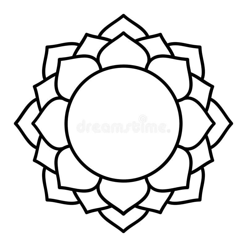 Arcilla de los mundos de la meditación del canto de OM del vector de la flor del flor de Lotus libre illustration
