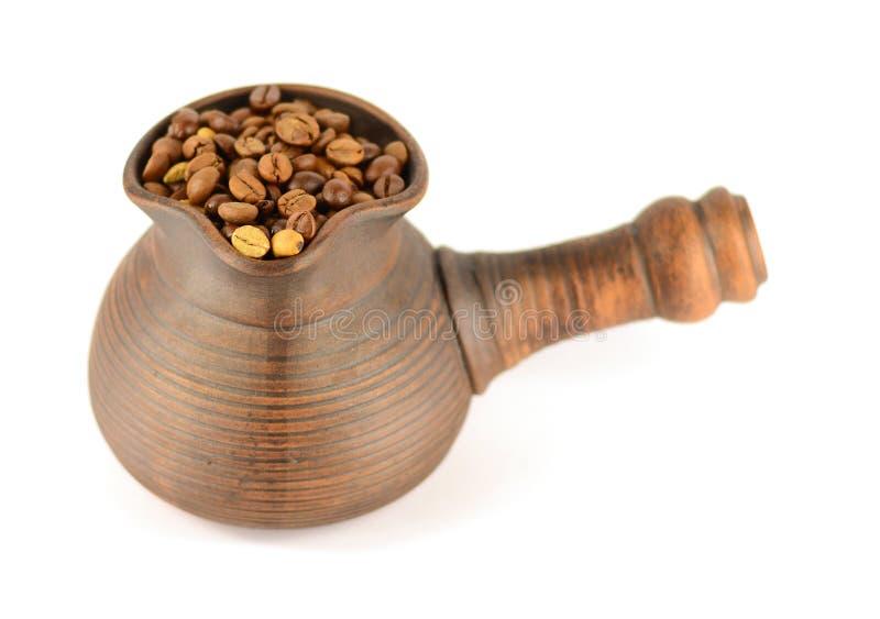 Arcilla del turco por completo del café imágenes de archivo libres de regalías