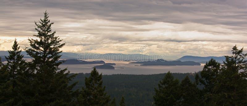 Arcipelago delle isole di San Juan a Washington fotografia stock libera da diritti