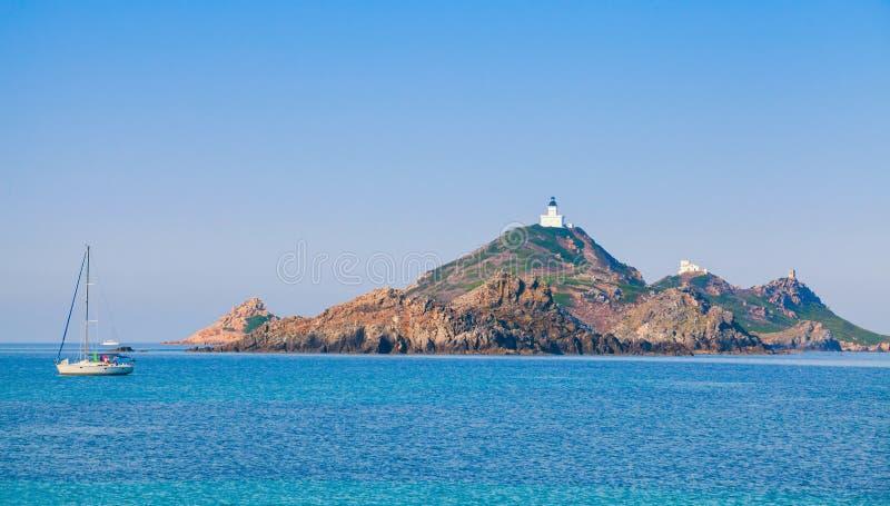 Arcipelago vicino ad Aiaccio, isola di Corsica, Francia fotografie stock libere da diritti