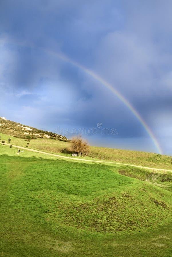 Arco-íris após uma tempestade fotos de stock royalty free