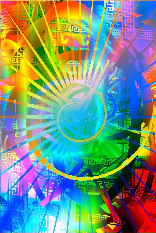Arco-íris Background2 ilustração do vetor