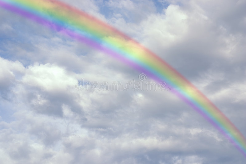 Arco-íris brilhante foto de stock