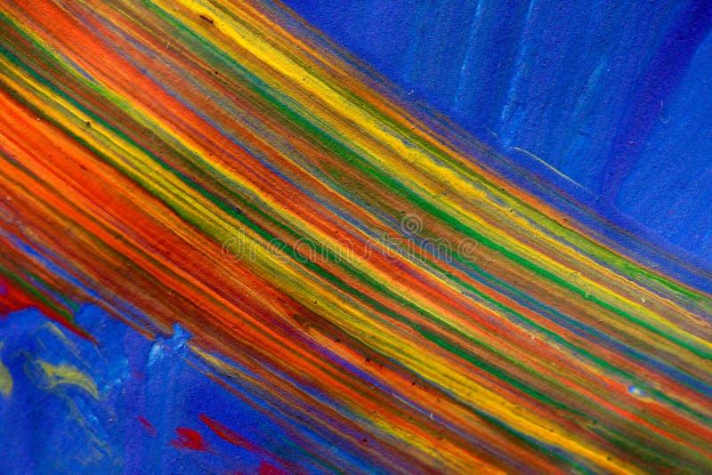 Arco-íris colorido da pintura imagens de stock