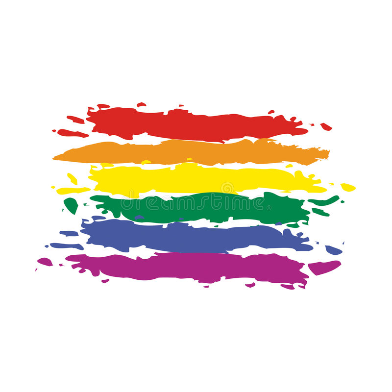 Arco-íris da bandeira do vetor