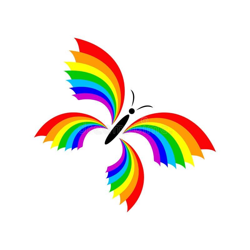Arco-íris da borboleta fotografia de stock
