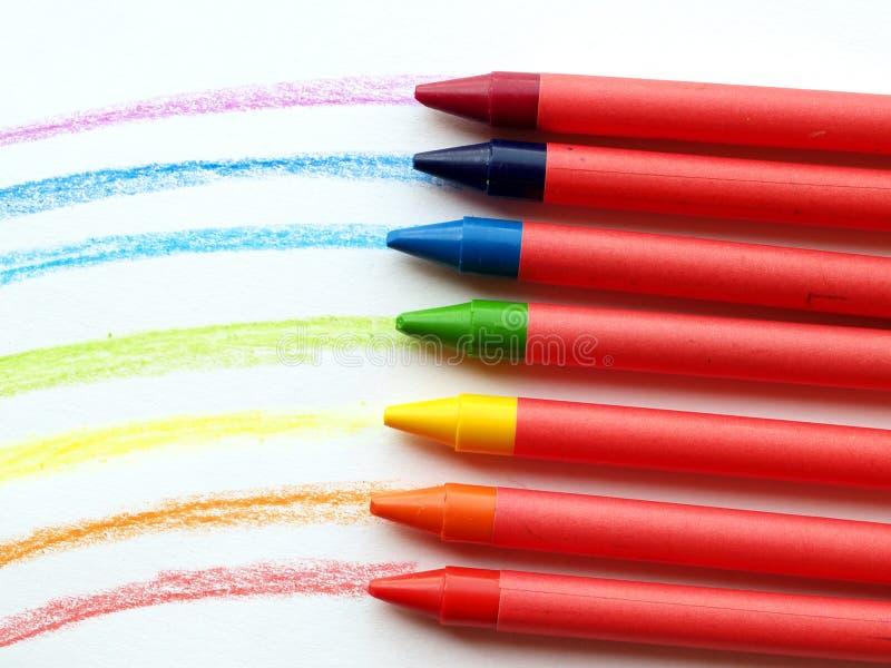 Arco-íris da cera fotografia de stock