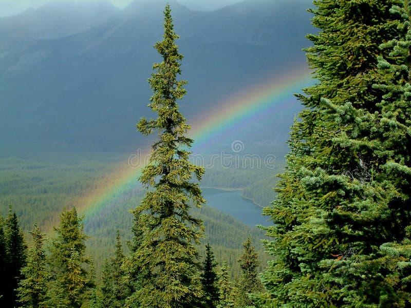 Arco-íris da montanha fotos de stock royalty free