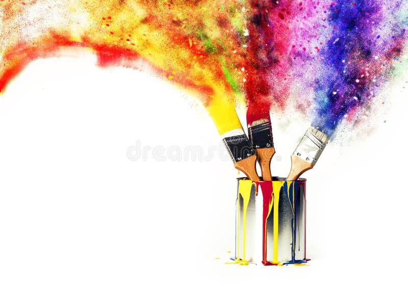 Arco-íris das cores das cores preliminares imagens de stock