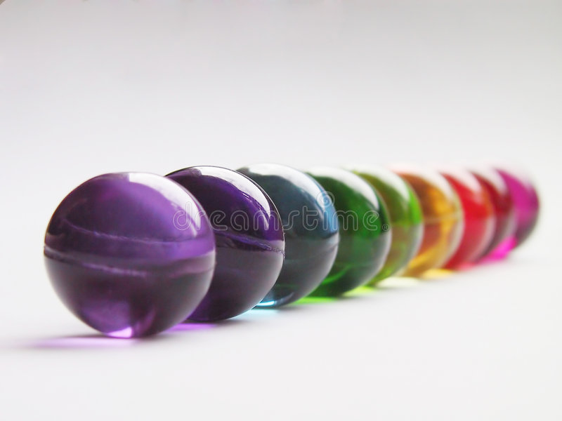 Arco-íris das esferas do banho foto de stock royalty free
