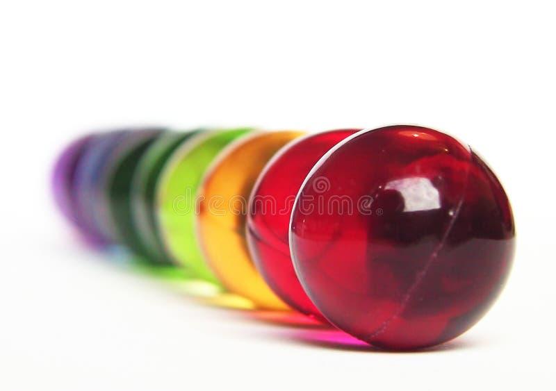 Arco-íris das esferas do banho fotografia de stock royalty free