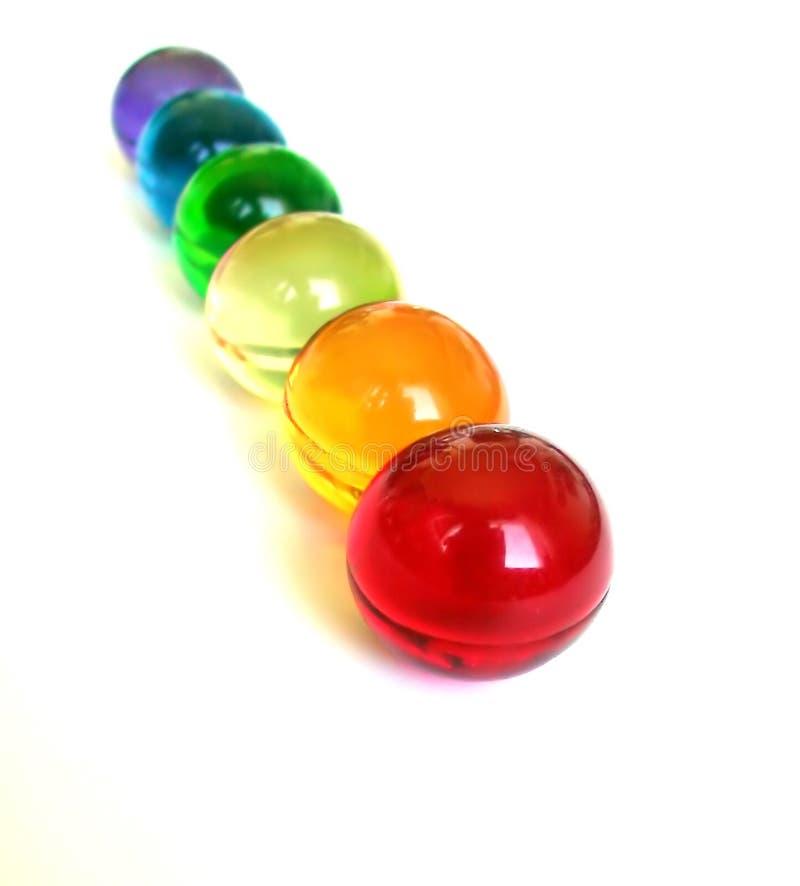 Arco-íris das esferas do banho fotos de stock royalty free