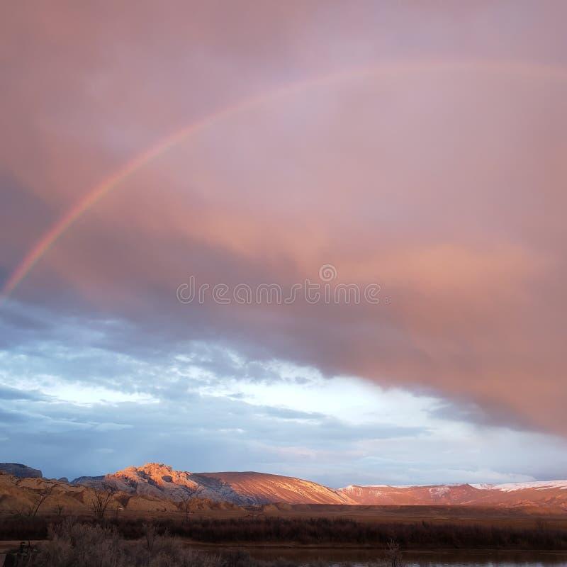 Arco-íris de Green River no monumento nacional do dinossauro foto de stock royalty free