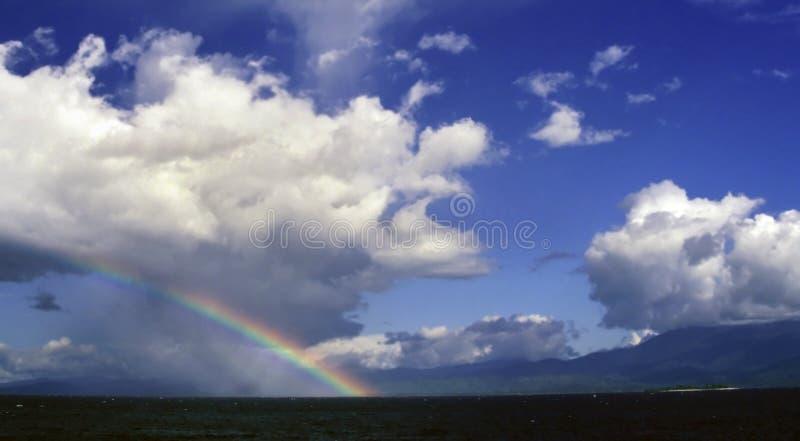Arco-íris de Indonésia fotografia de stock