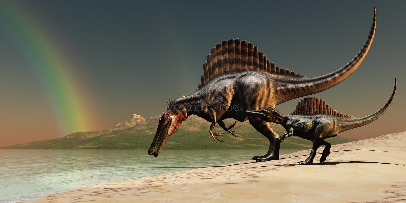 Arco-íris de Spinosaurus ilustração royalty free
